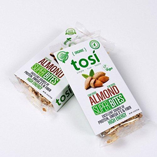 Tosi Health, SuperBites, Almond, 2.6 oz Bar, 12 Count Pack