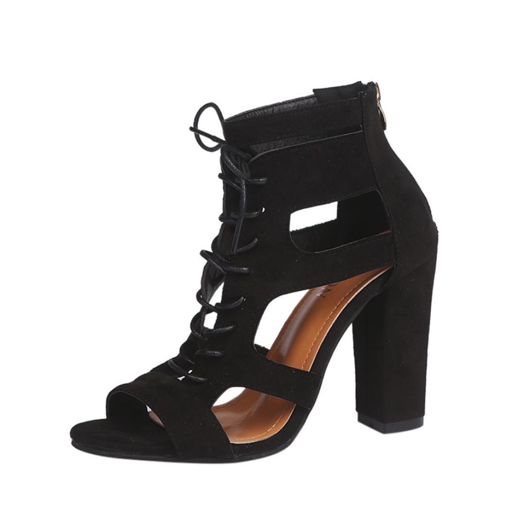 Beautyjourney Chaussures Sandales Femme Sandales Talons, Sandales Super Plage Tongs Mixte,Les Rome Femmes Frottent Creux sur La Croix LiéE Rome Chaussures Chaussures Super Heel Noir 92454a0 - reprogrammed.space