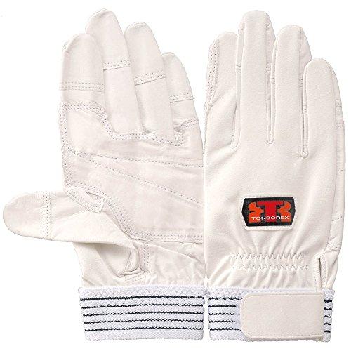 スプリット自分自身横向きTONBOREX(トンボレックス) レスキューグローブ 中厚牛革手袋 E-C811 ホワイト