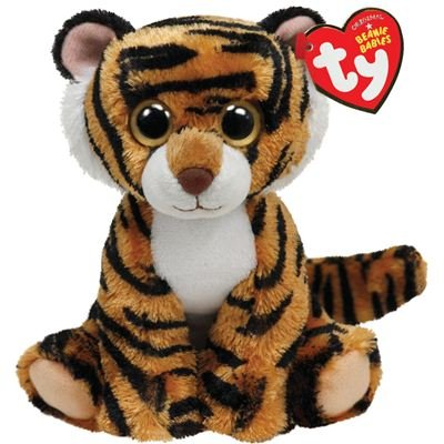 Amazon Com Ty Beanie Baby Stripers Plush Tiger Toys Games