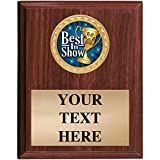 Dog Show Award Plaques - 5x7 Customized Best in Show Dog Show Trophy Plaque