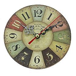 Buorsa Mini 4.8 Inch/12 CM Roman Tuscan Style Creative Retro Wall Clocks Bar Home Hotel Decorative Jewelry Gift(Style 1)