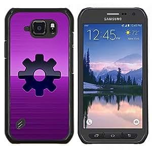 TECHCASE---Cubierta de la caja de protección para la piel dura ** Samsung Galaxy S6 Active G890A ** --Purple Vapor Sprocket Punk