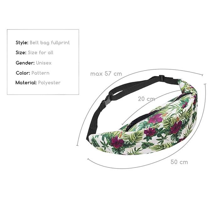 Amazon.com: GWshop - Bolsa de cintura con cremallera impresa ...