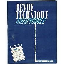 Revue Technique Automobile, n° 157, mai 1959 : Renault 1000 et 1400 Kg, la consommation, le salon de Genève, la boite de vitesses Ydral, électricité automobile, la page des nouveautés R.T.A. journal