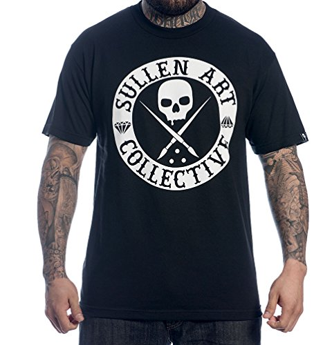 Sullen Clothing Men's Badge of Honor Solid Short Sleeve Tee, Black, (Honor Short Sleeve Tee)
