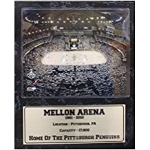 Encore Select 523-09 NHL Pittsburgh Penguins Mellon Arena Stat Plaque with Photo, 12-Inch by 15-Inch