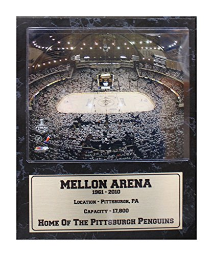 (Encore Select 523-09 NHL Pittsburgh Penguins Mellon Arena Stat Plaque with Photo, 12-Inch by 15-Inch)