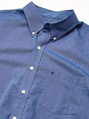 IZOD Men's Big and Tall Premium Essentials Long Sleeve Button Down Poplin Shirt