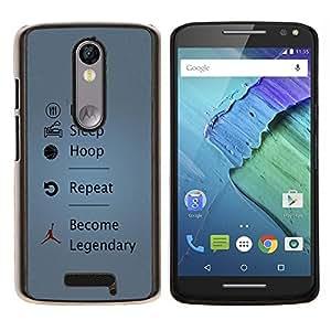 For Motorola Droid Turbo 2 / Moto X Force Case , Divertido Coma el sueño del aro Legendario- Diseño Patrón Teléfono Caso Cubierta Case Bumper Duro Protección Case Cover Funda