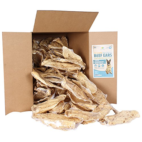 Pet's Choice Pharmaceuticals Cow Ear, Bully Stick Dusted, 100 Count Box, 1 Case, All Sizes by Pet's Choice Pharmaceuticals