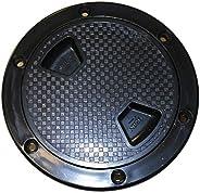 "SEAFLO 8"" BLACK Boat Round Non Slip Inspection Hatch w/ Detachable"