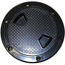 "SEAFLO 4"" BLACK Boat Round Non Slip Inspection Hatch w/ Detachable Cover"