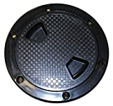 SEAFLO 8'' BLACK Boat Round Non Slip Inspection Hatch w/ Detachable Cover