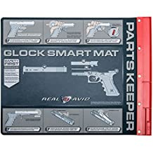 Real Avid Handgun Smart Mat - 19x16, Universal Pistol, Glock, 1911, and M&P (select your style) Gun Cleaning Mat, Red Parts Tray