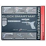 "Real Avid Glock Smart Mat - 19x16"", Glock Bench Mat/Glock Gun Cleaning Mat/Glock Mat/Glock Cleaning Pad, Glock Graphics, Red Tray"