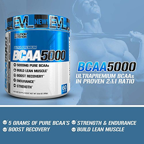 Evlution Nutrition BCAA5000 Powder 5 Grams of Premium BCAAs (Unflavored, 60 Serving) by Evlution (Image #3)