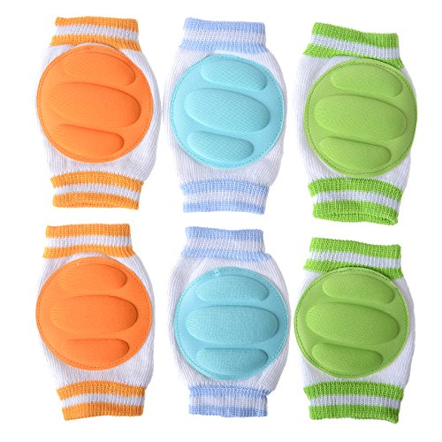 Cren Infant Toddler Baby Knee Pad Crawling Safety Protector, pack of 3 pairs (Protective Mase compare prices)