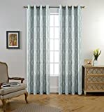 MIUCO Moroccan Embroidered Semi Sheer Curtains