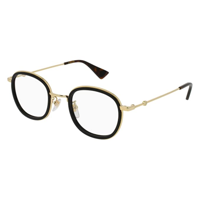 Gucci Occhiali da Vista GG0111O BLACK GOLD unisex  Amazon.it  Abbigliamento afdbbd1b002e