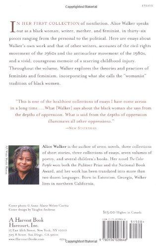 In Search Of Our Mothers Gardens Womanist Prose  Import It All In Search Of Our Mothers Gardens Womanist Prose