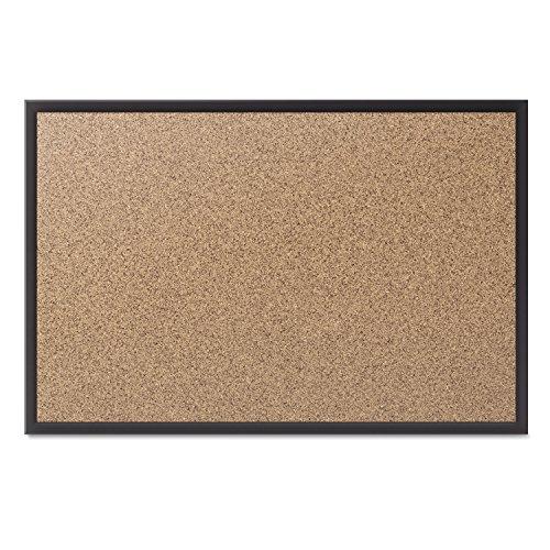 4' Cork Boards - Quartet Cork Bulletin Board, 6 x 4 Feet, Black Frame (2307B)