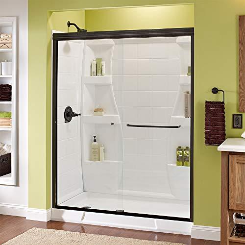 - Delta Shower Doors SD3956978 Classic Semi-Frameless Traditional Sliding Shower, 60