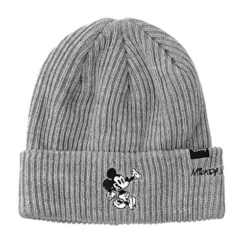 (WITHMOONS Disney Mickey Mouse Ribbed Beanie Hat Slouchy CR5840)
