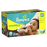 Pampers Swaddlers, Unisex, Talla 3, 124 Pañales