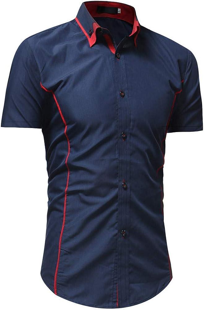 Fannyfuny camiseta Hombre Polo Modelo Caballero Casual Camisa Verano de Manga Corta Camisetas Casuales Sudadera con Botones Cuello Vuelto: Amazon.es: Ropa y accesorios