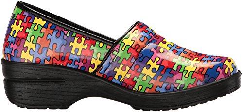 Mujer Zapatillas Mul Works Lyndee Brt Puzzl para Salud de Profesionales Easy q0TwEp7