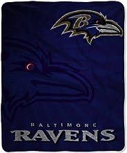 NFL Baltimore Ravens Strobe Sherpa Throw Blanket, 50x60-Inch
