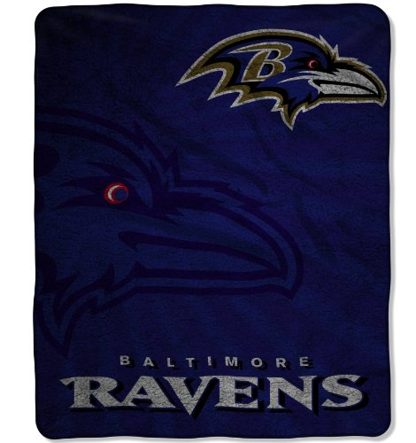 (The Northwest Company Officially Licensed NFL Baltimore Ravens Strobe Sherpa on Sherpa Throw Blanket, 50