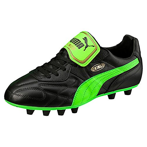 PUMA KING TOP ITALIAN FIRM GROUND - botas de fútbol negro / verde neón