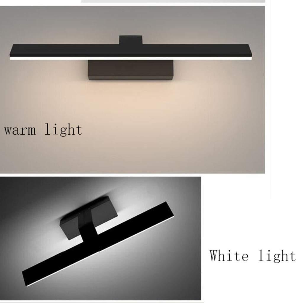 Badezimmerbeleuchtung Spiegel Frontleuchte LED Wandleuchte Wandleuchte Wandleuchte Badezimmer Wohnzimmer Kosmetikspiegel Licht Acryl Lampenschirm Freies Stanzen Wasserdicht Schwarz Stil Licht (Farbe   Warmes Licht-42cm) ba5146