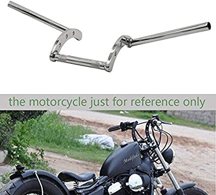FLYPIG Motorcycle 7//8 Z Handlebar Drag Bars for Honda Yamaha Suzuki Chopper Bobber