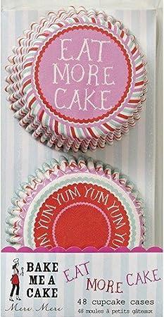 Eat More Cake Yum Yum Cupcake Cases