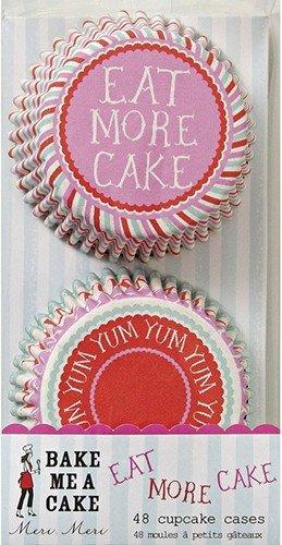 Meri Meri Eat More Cake and Yum Yum Cupcake Cases, 48-Pack