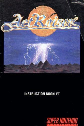 ActRaiser SNES Instruction Booklet (Super Nintendo Manual Only) (Super Nintendo Manual)