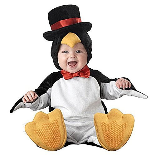 XXOO Toddler Baby Infant Cute Penguin Christmas Dress up Outfit Costume,Black,80CM (7-9 Months)]()
