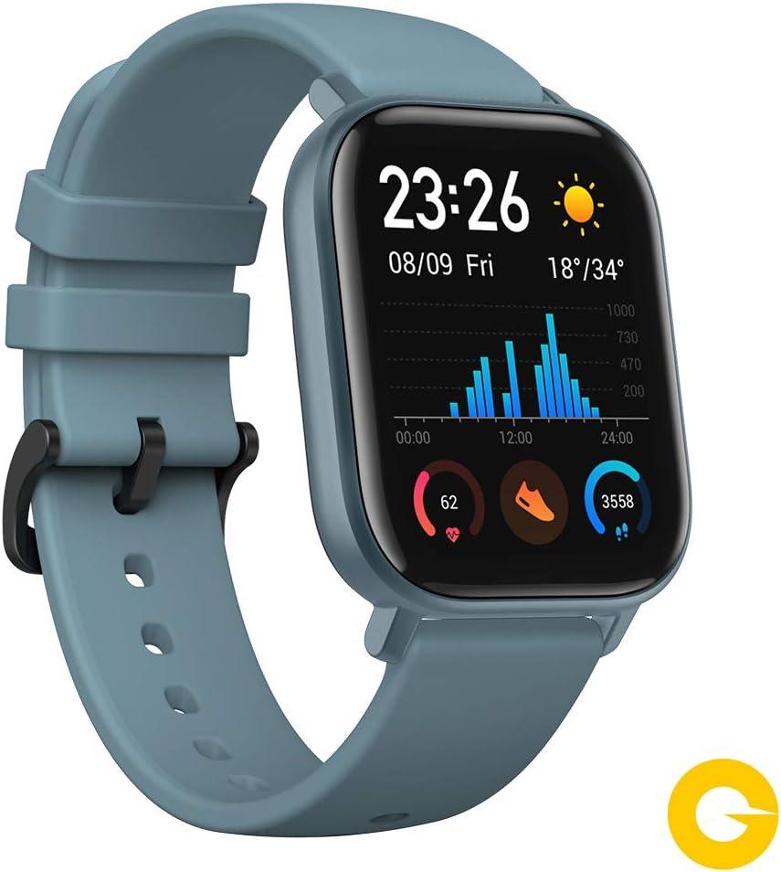 Amazfit GTS Reloj Smartwacht Deportivo   14 días Batería   GPS+Glonass   Sensor Seguimiento Biológico BioTracker™ PPG   Frecuencia Cardíaca   Natación   Bluetooth 5.0 (iOS & Android) Azul