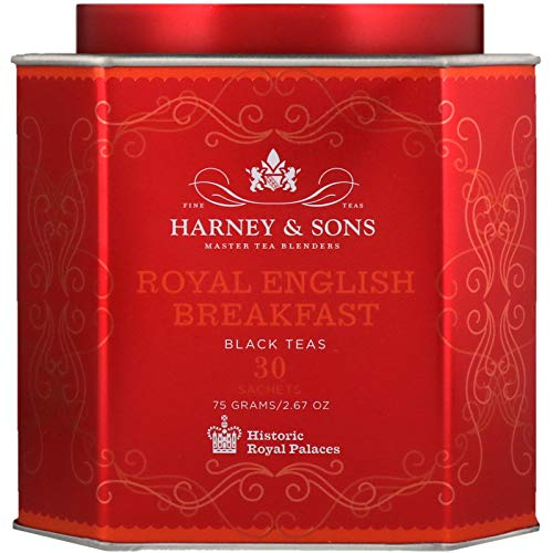 (Harney Sons Royal English Breakfast Black Teas 30 Sachets 2 67 oz 75 g Each)