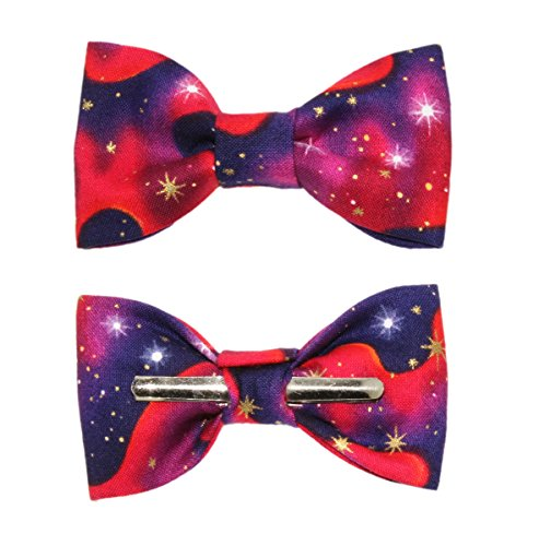 Toddler Boy 4T 5T Star Gazer Galaxy Clip On Cotton Bow Tie Bowtie by amy2004marie (Image #4)
