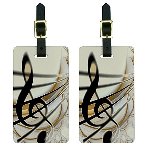 Graphics & More Sound Light Music Note Design Luggage Tags Suitcase Carry-on...