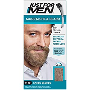 Just For Men Moustache & Barbe Teinture Barbe, M25 – Châtain Clair