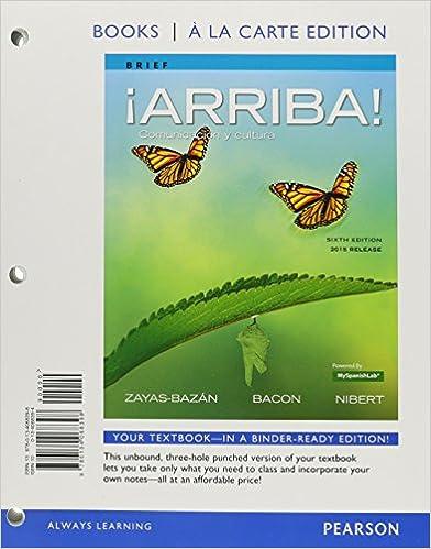Amazon. Com: ¡arriba! : comunicación y cultura (6th edition.