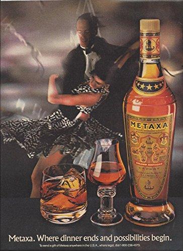 magazine-paper-advertisement-for-metaxa-alcohol-1988-where-dinner-ends