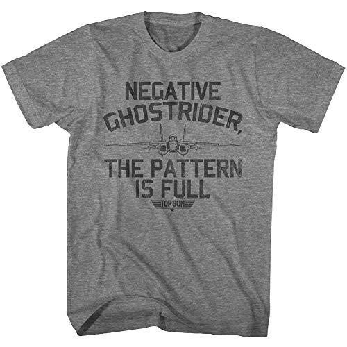 Top Gun Negative Ghostrider The Pattern is Full T-shirt, Graphite. S to 5XL