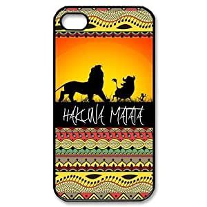 Hakuna Matata Aztec Pattern for iPhone 4 4S 4G Case Cover By CHAOSHOP Custom