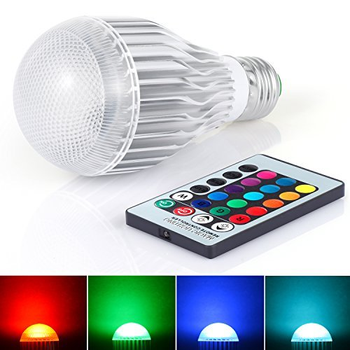 (Boomile E26 LED Light Bulb 10W RGB Color Changing LED Lamp Dimmable with Remote Control)